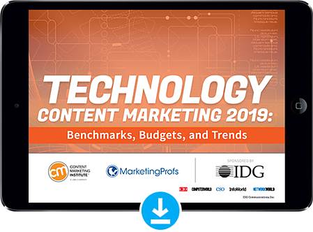 Technology Content Marketing 2019